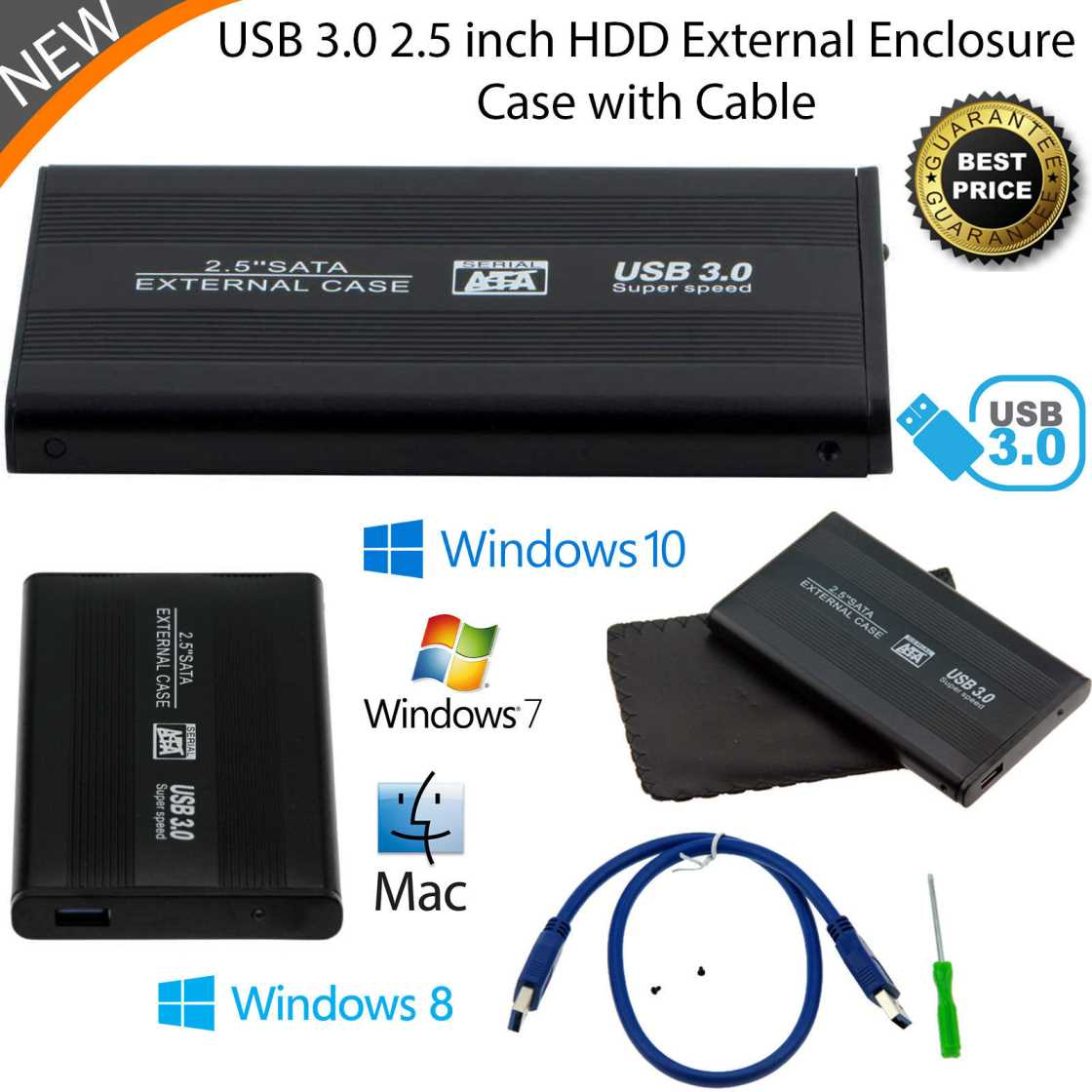 cheap usb 3 hdd external caddy