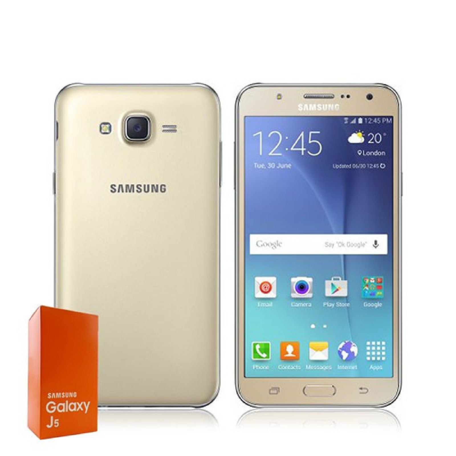 samsung galaxy j5 4g 8gb 13mp sim free dual sim smartphone pcmacs. Black Bedroom Furniture Sets. Home Design Ideas